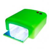 Uv lampa na nehty - zelená, hranatá
