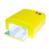 Zvětšit fotografii - Uv lampa na nehty - žlutá, hranatá