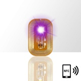LED svítící dioda na nehty NFC - fialová