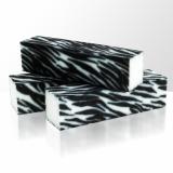 Leštící blok na nehty - zebra