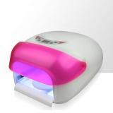 Zvětšit fotografii - UV lampa na nehty LCD 36W - růžová (sušička laku,senzor)