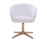 Kosmetická židle VENICE na zlatém kříži  - bílá