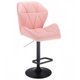 Barová židle MILANO MAX na černém talíři - růžová