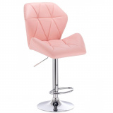 Barová židle MILANO MAX na stříbrném talíři - růžová
