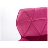 Barová židle MILANO VELUR na černém talíři  - růžová