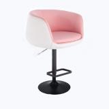 Barová židle MONTANA na černém talíři - bílo-růžová