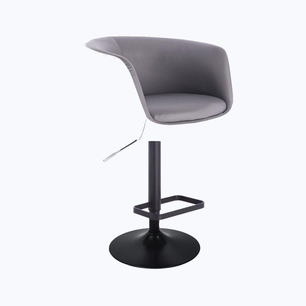 Barová židle MONTANA na černém talíři - bílo-šedá