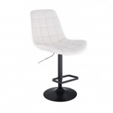 Barová židle PARIS na černém talíři - bílá