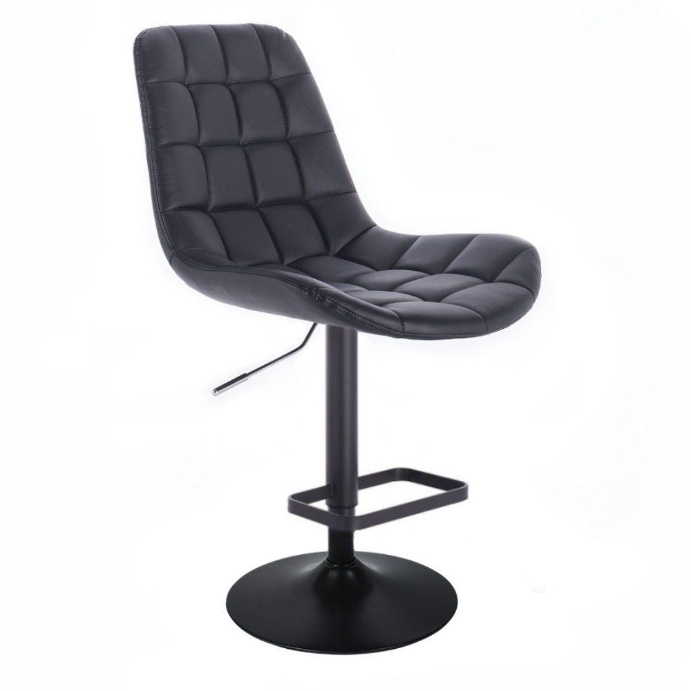 Barová židle PARIS na černém talíři - černá