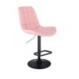Barová židle PARIS na černém talíři - růžová