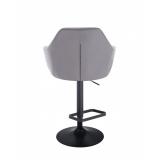 Barová židle ROMA na černém talíři - šedá