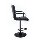 Barová židle VERONA na černém talíři - černá