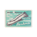 Plechová retro cedule Barbershop B004