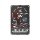 Plechová retro cedule Barbershop B021