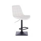Barová židle PARIS na černé podstavě - bílá