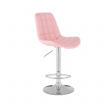 Barová židle PARIS na stříbrném talíři - růžová