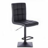 Barová židle TOLEDO na černé podstavě - černá