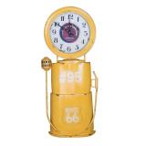 Dekorativní nástěnné hodiny - žluté