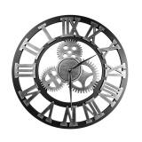 Dekorativní stříbrné hodiny - ozubené kolo