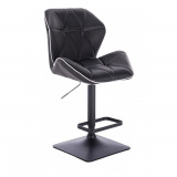 Barová židle MILANO MAX na černé podstavě - černá