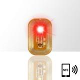 LED svítící dioda na nehty NFC - červená