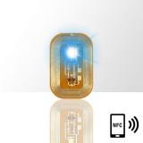 LED svítící dioda na nehty NFC - modrá