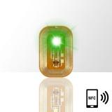 LED svítící dioda na nehty NFC - zelená