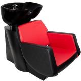 Kadeřnický mycí box GABBIANO Q-2178 černo-červený (AS)