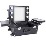 Kosmetický kufr GLAMOUR 9552 černý CUBE (AS)