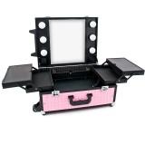 Kosmetický kufr GLAMOUR 9552 růžový CUBE (AS)