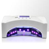 Lampa UV LED 66W LCD na dvě dlaně / nohy - bílá (A)