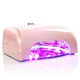 LED UV lampa se sušičkou K1 36W - růžová (A)