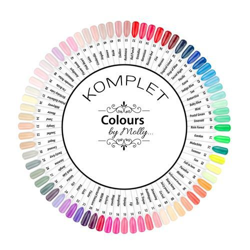 Gel - laky Colours by Molly - paleta