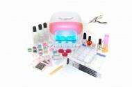 Sada na gelové nehty (č.7) - růžová UV lampa