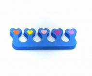 Oddělovač prstů, separátor (1 pár) - modrý