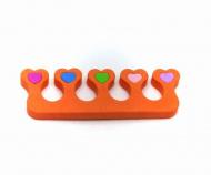 Oddělovač prstů, separátor (1 pár) - oranžový