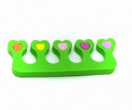 Oddělovač prstů, separátor (1 pár) - zelený