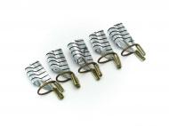 Šablony na nehty pro opakované použití - stříbrné