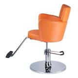 Kadeřnické křeslo LUIGI BR-3927 oranžové