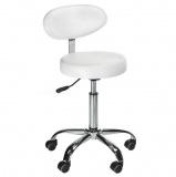Kosmetická stolička s opěrátkem BD-9934 bílá
