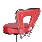 Kosmetická stolička s opěrkou BG-823 červená