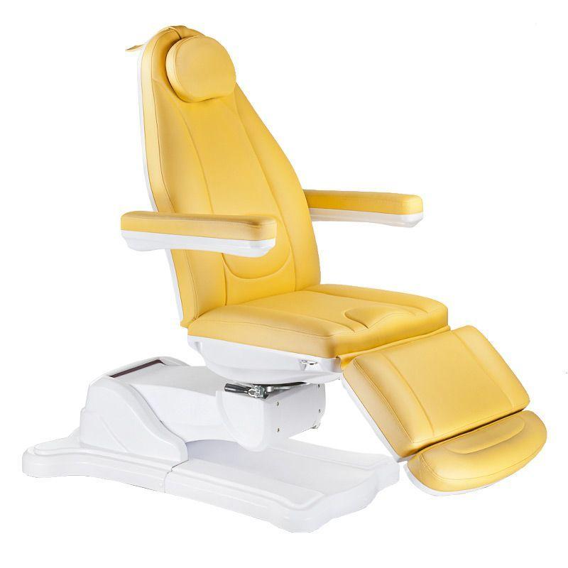 Elektrické křeslo kosmetické BR-6672 žluté
