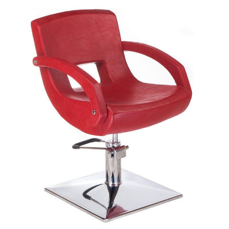 Kadeřnické křeslo NINO BD-1131 červené