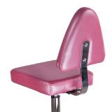 Kosmetický taburet s opěrkou BD-9937 vřesový