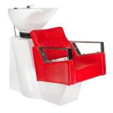 Kadeřnický mycí box ROBERTO BM-519 červená