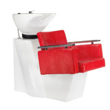 Kadeřnický mycí box SIMONE BM-508 červená