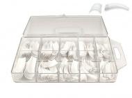 Nehtové tipy french bez lepící plošky 100 ks