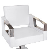 Kadeřnické křeslo ARTURO BR-3936A - bílé