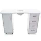 Kosmetický stolek SONIA 2027 bílý + pohlcovač prachu (AS)
