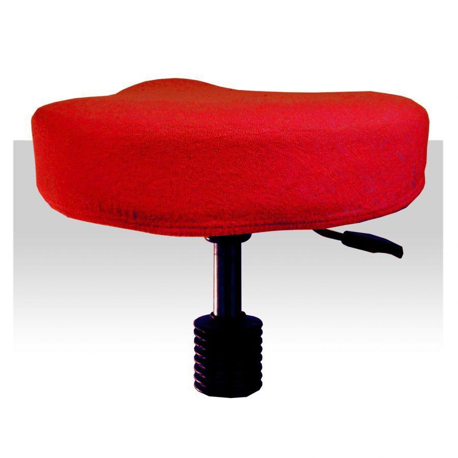 Froté potah / obal na taburet - červený